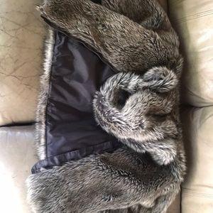 Grayish brown fur coat